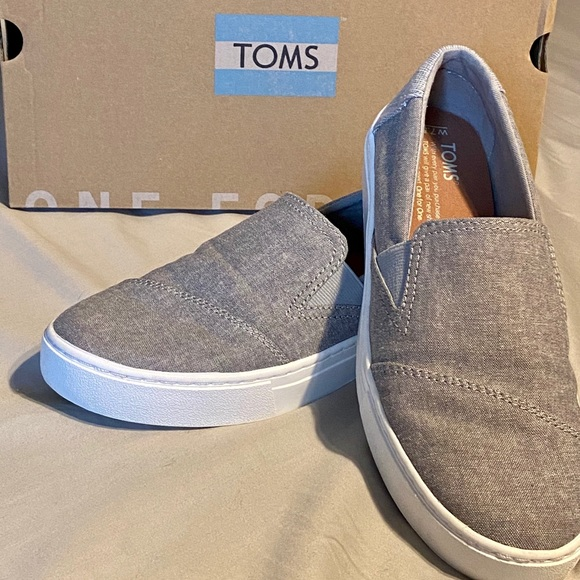 Toms Luca Frost Grey Chambray Wmn Sz 75